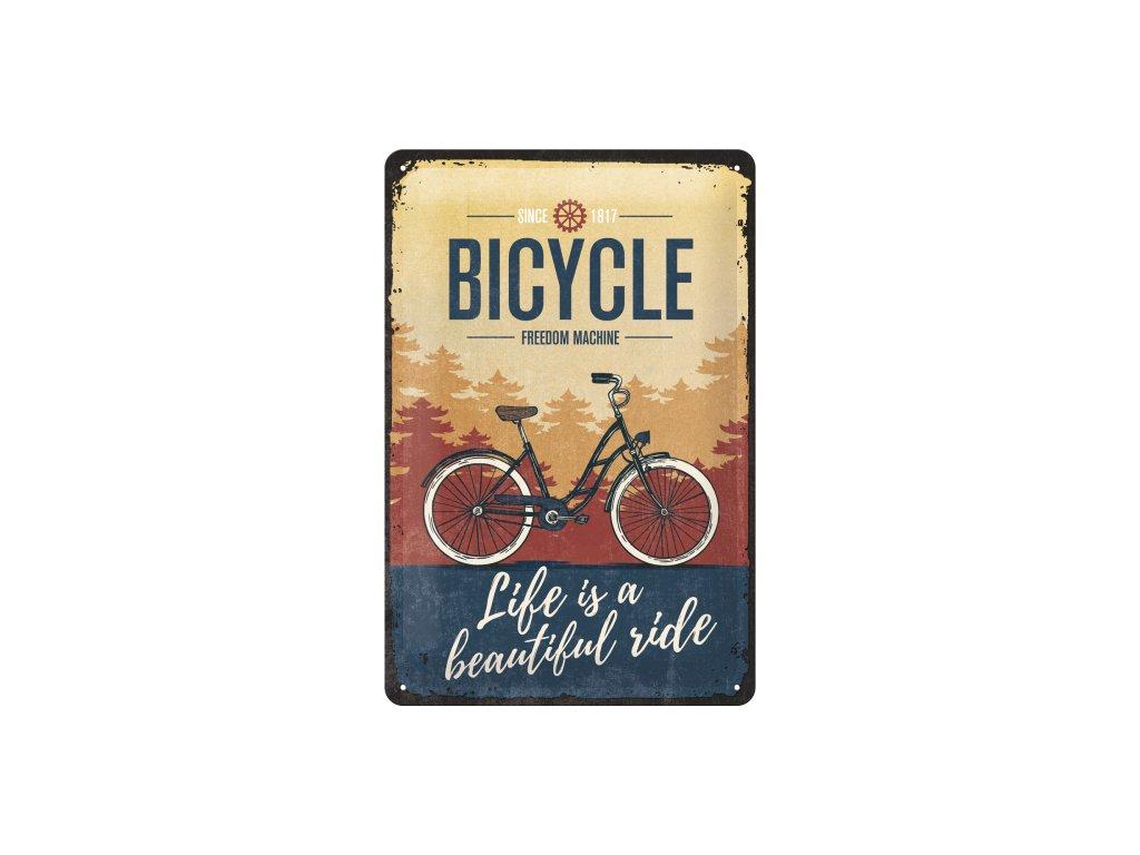 Plechová ceduľa Bicycle