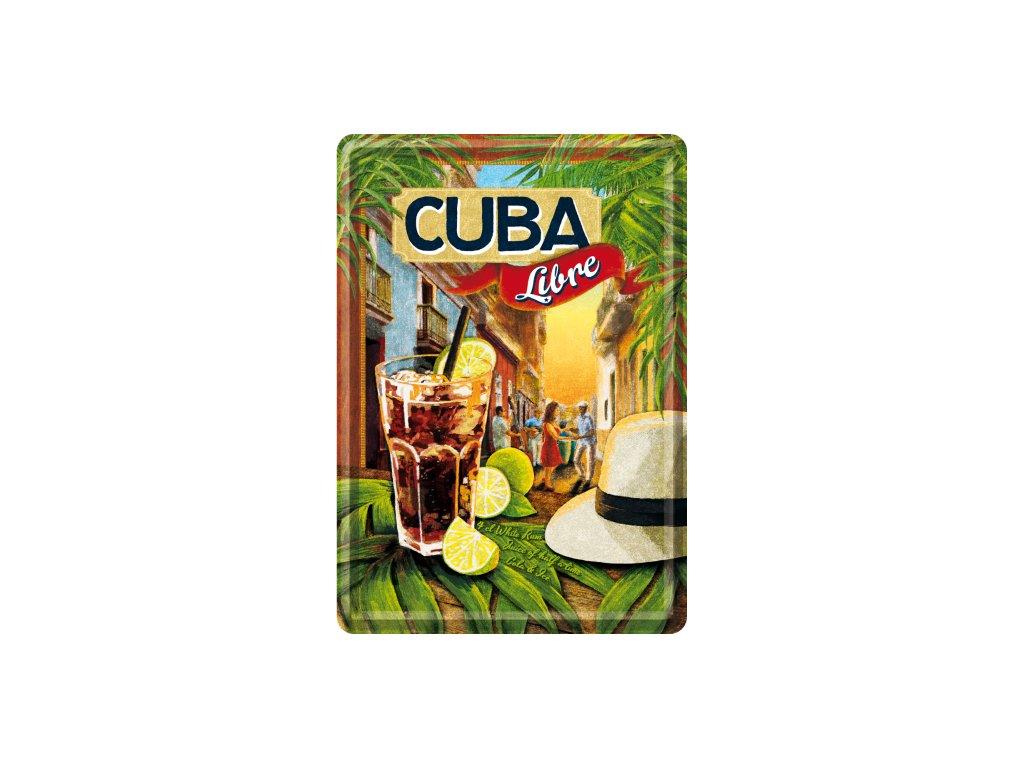 Plechová Pohľadnica Cuba Libre