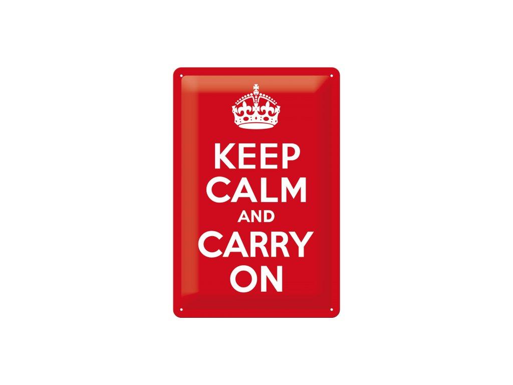 Plechová ceduľa Keep Calm and Carry On