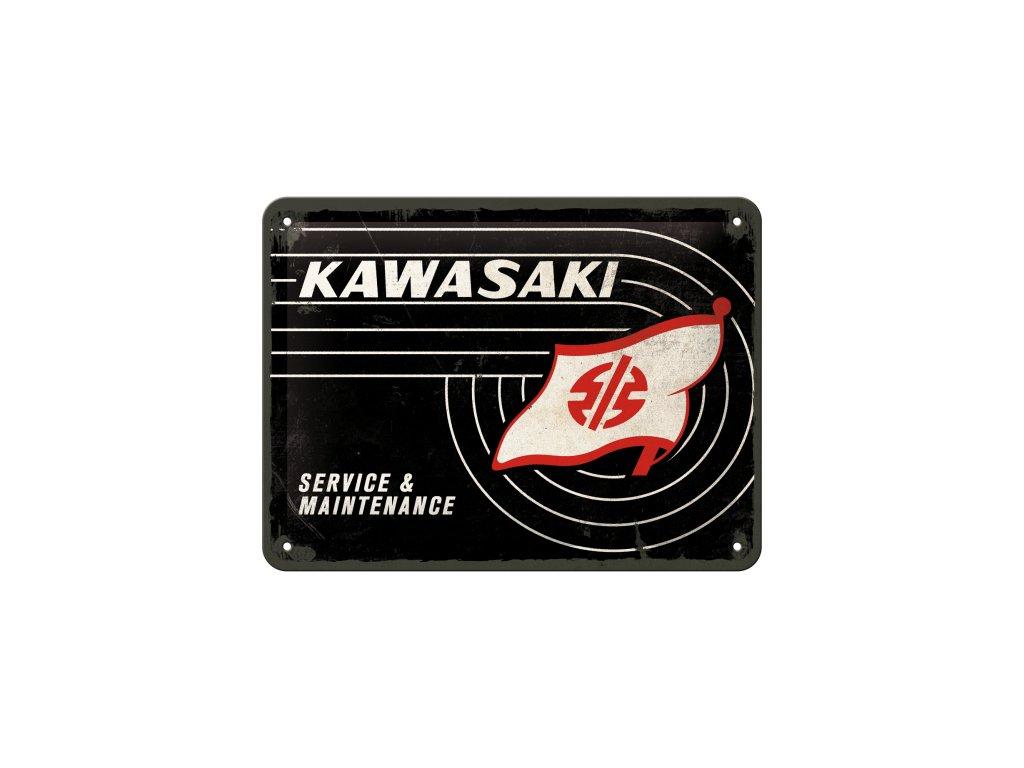 Plechová ceduľa Kawasaki Service