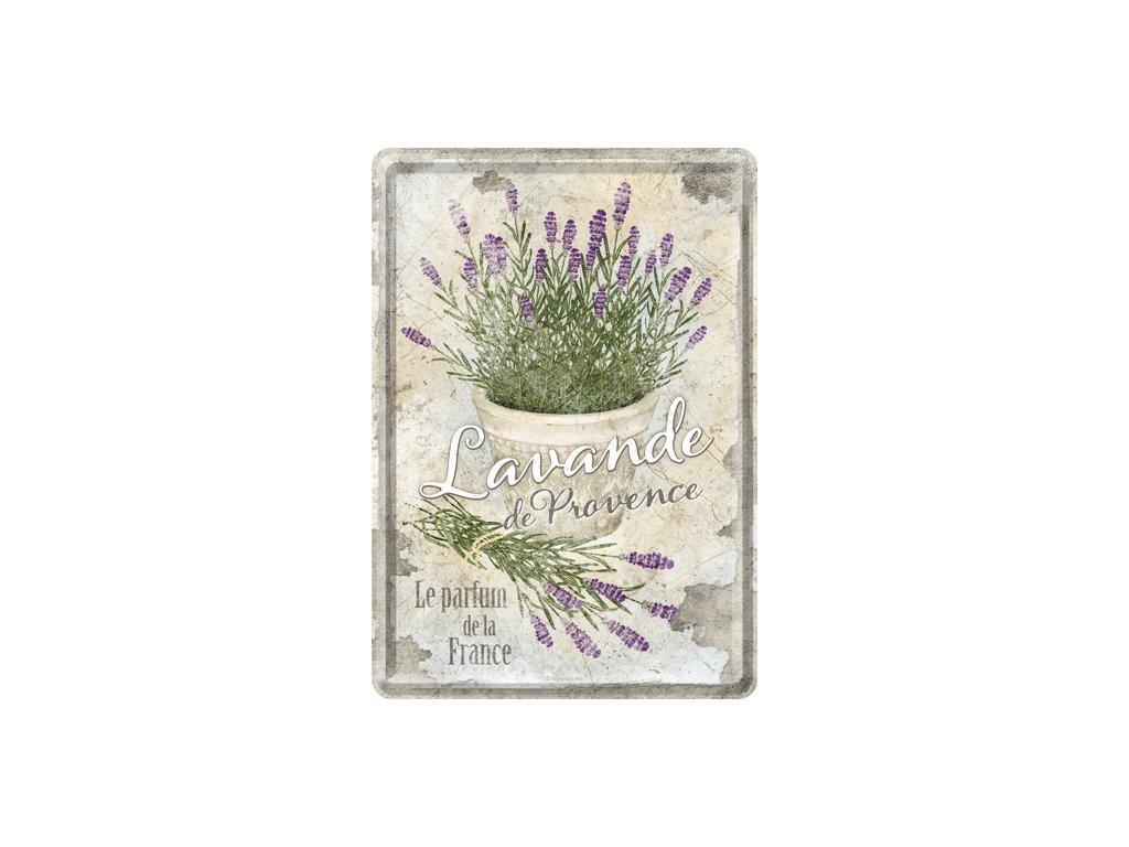 Plechová Pohľadnica Levandule