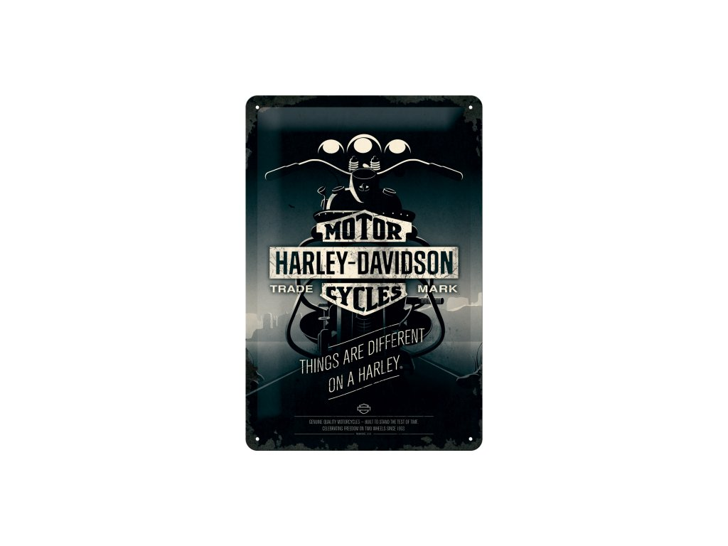 Plechová ceduľa Harley-Davidson Motor Cycles