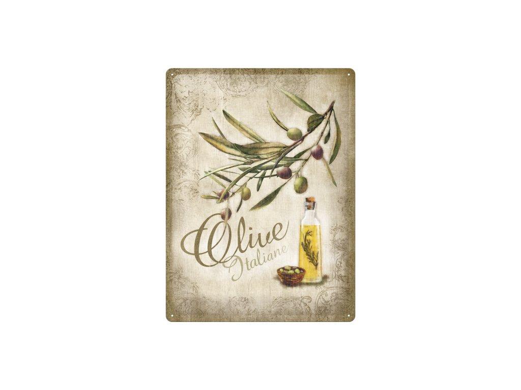 Plechová ceduľa Olive Italiane