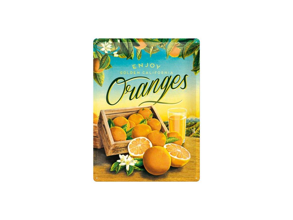 Plechová ceduľa Oranges