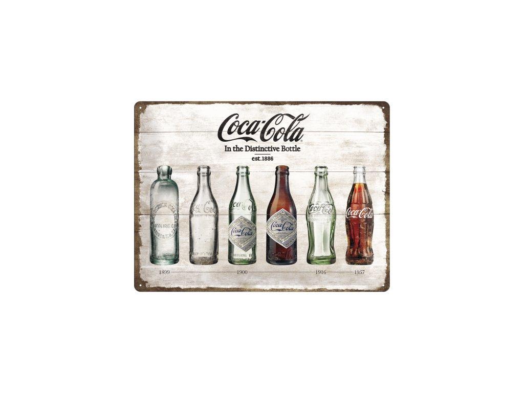 Plechová ceduľa Coca-Cola Flaše