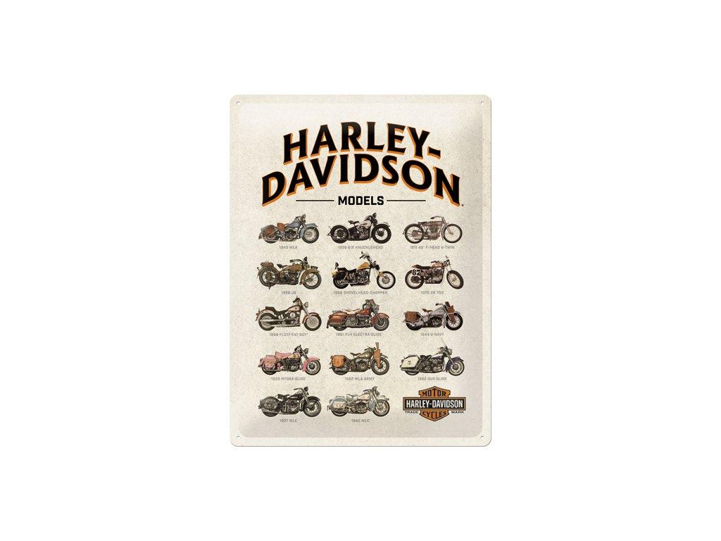 Plechová ceduľa Harley-Davidson Modely