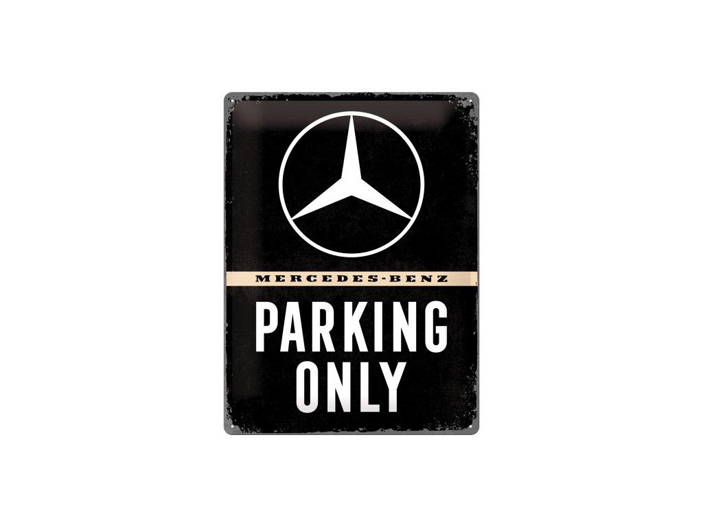 Plechová ceduľa Mercedes-Benz Parking Only (2)