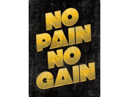 Plechová Ceduľa No Pain No Gain