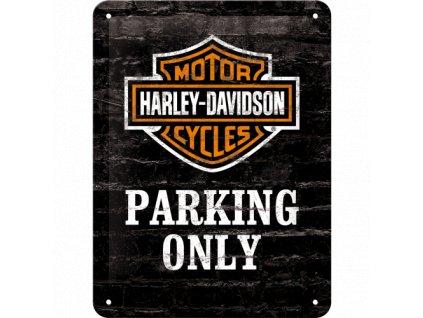 Plechová Ceduľa Harley-Davidson Parking Only