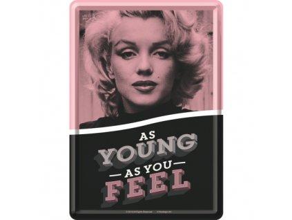 Plechová Pohľadnica Marilyn Monroe - As young as you feel