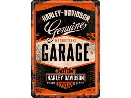 Plechová Pohľadnica Harley-Davidson Garage