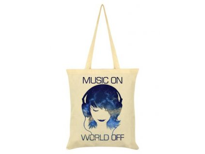 Bavlnená Taška Music On World Off