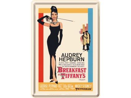 Plechová Pohľadnica Breakfast at Tiffany's Movie Art