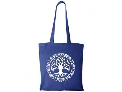 Bavlnená Taška Strom Života - Modrá