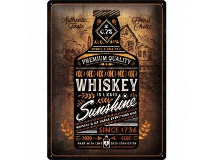 Plechová Ceduľa Whiskey Sunshine