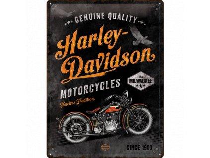 Plechová Ceduľa Harley-Davidson (Timeless Tradition)