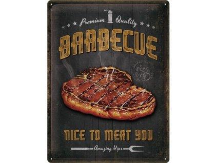 Plechová Ceduľa Barbecue Premium Quality