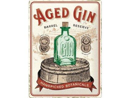 Plechová Ceduľa Aged Gin