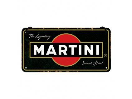 Plechová Ceduľa Martini Served Here