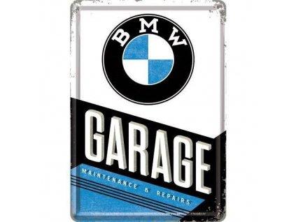 Plechová Pohľadnica BMW Garage