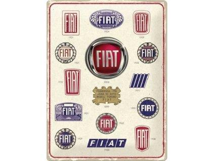 Plechová Ceduľa Fiat (Logo Evolution)