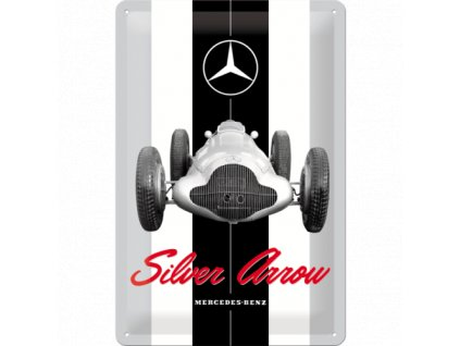 Plechová Ceduľa Mercedes-Benz Silver Arrow