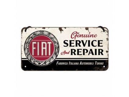 Plechová Ceduľa Fiat Service & Repair