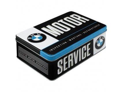 Plechová Dóza Plochá - BMW Motor