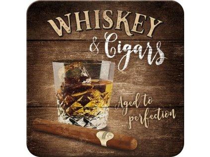 Plechové Podtácky Whiskey & Cigars