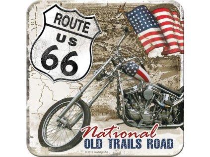 Plechové Podtácky Route 66 - Old Trails Road