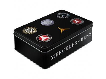 Plechová Dóza Plochá - Mercedes Benz