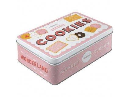 Plechová Dóza Plochá - Cookies