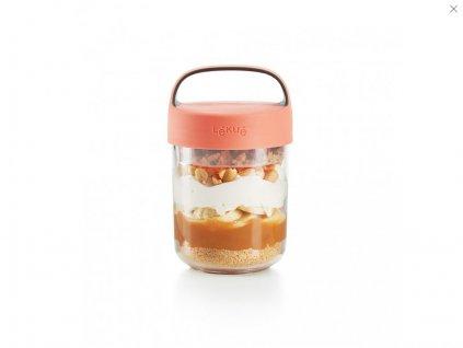 Svačinový box Lékué Jar To Go 400 ml lososový(0)