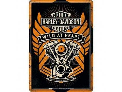 Plechová Pohľadnica Harley-Davidson Wild At Heart