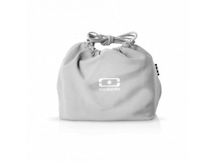 Taška Pre Desiatový Box Monbento Pochette - Grey Coton