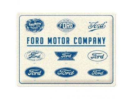 Plechová Ceduľa Ford Logo Evolution