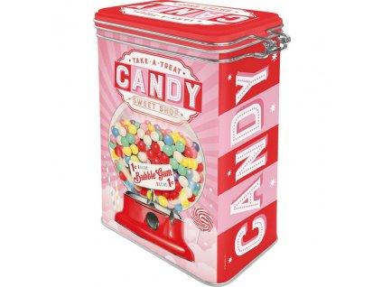 Plechová Dóza s Klipom - Candy