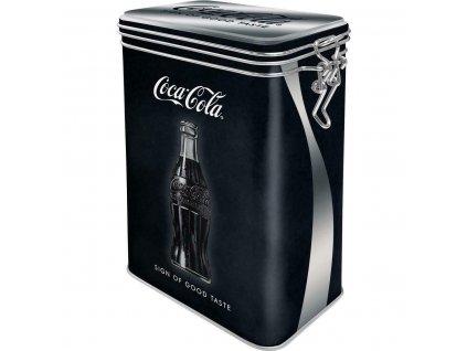 Plechová Dóza s Klipom - Coca Cola