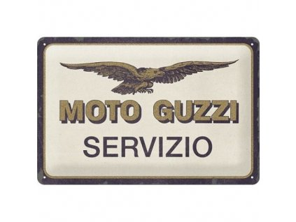 Plechová Ceduľa Moto Guzzi Servizio