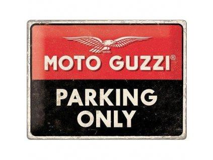 Plechová Ceduľa Moto Guzzi Parking Only