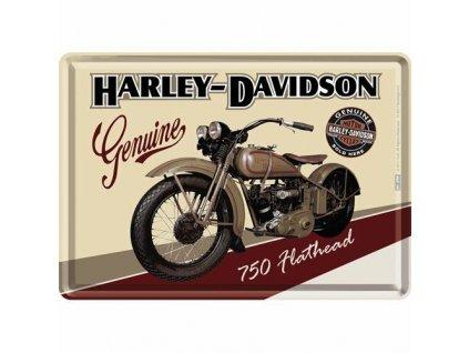 Plechová Pohľadnica Harley-Davidson 750 Flathead