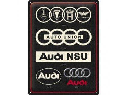 Plechová Ceduľa Audi Logo Evolution