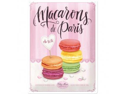 Plechová Ceduľa Macarons de Paris