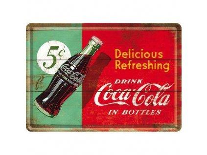 Plechová Pohľadnica Coca-Cola Delicious Refreshing