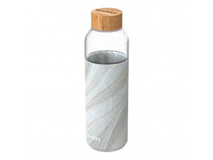 Sklenená Fľaša So Silikónom Quokka Flow - White Stone