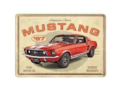 Plechová Pohľadnica Ford Mustang GT 1967