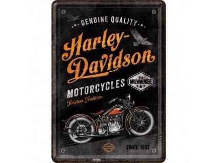 Plechová Pohľadnica Harley Davidson Timeless Tradition