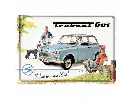 Plechová Pohľadnica Trabant 601