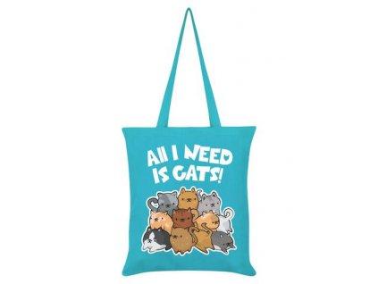 Bavlnená Taška All I Need Is Cats