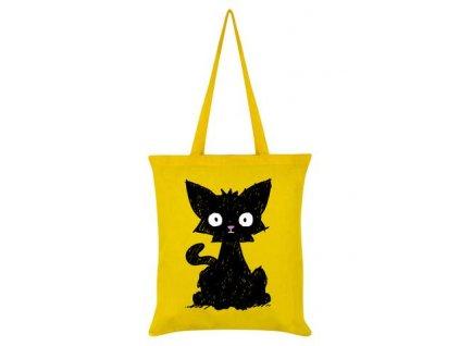 Bavlnená Taška Scaredy Cat Yellow